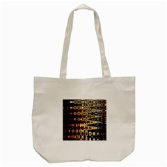 Bright Yellow And Black Abstract Tote Bag (cream)