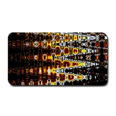 Bright Yellow And Black Abstract Medium Bar Mats by Nexatart