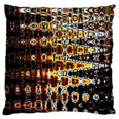 Bright Yellow And Black Abstract Large Cushion Case (one Side)