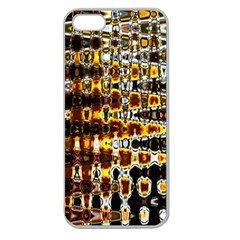 Bright Yellow And Black Abstract Apple Seamless Iphone 5 Case (clear)