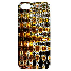 Bright Yellow And Black Abstract Apple Iphone 5 Hardshell Case With Stand by Nexatart