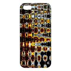 Bright Yellow And Black Abstract Apple Iphone 5 Premium Hardshell Case