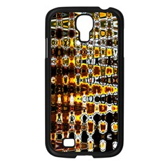 Bright Yellow And Black Abstract Samsung Galaxy S4 I9500/ I9505 Case (black) by Nexatart