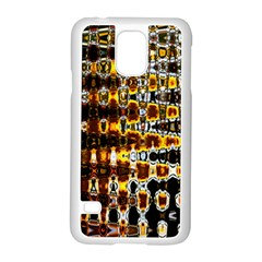 Bright Yellow And Black Abstract Samsung Galaxy S5 Case (white)