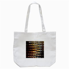 Bright Yellow And Black Abstract Tote Bag (white) by Nexatart