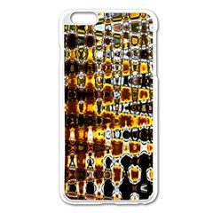 Bright Yellow And Black Abstract Apple Iphone 6 Plus/6s Plus Enamel White Case