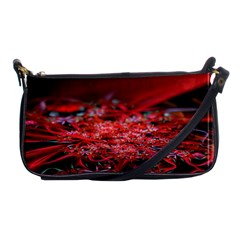 Red Fractal Valley In 3d Glass Frame Shoulder Clutch Bags by Nexatart