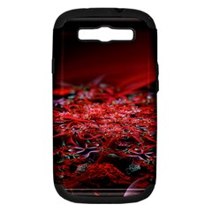 Red Fractal Valley In 3d Glass Frame Samsung Galaxy S Iii Hardshell Case (pc+silicone) by Nexatart
