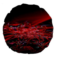 Red Fractal Valley In 3d Glass Frame Large 18  Premium Round Cushions