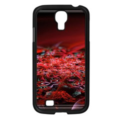 Red Fractal Valley In 3d Glass Frame Samsung Galaxy S4 I9500/ I9505 Case (black) by Nexatart