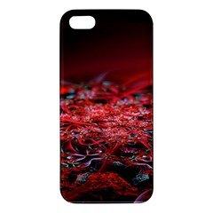 Red Fractal Valley In 3d Glass Frame Iphone 5s/ Se Premium Hardshell Case