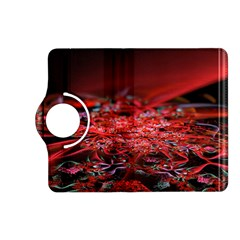 Red Fractal Valley In 3d Glass Frame Kindle Fire Hd (2013) Flip 360 Case