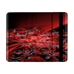 Red Fractal Valley In 3d Glass Frame Samsung Galaxy Tab Pro 8 4  Flip Case by Nexatart