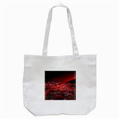 Red Fractal Valley In 3d Glass Frame Tote Bag (white) by Nexatart