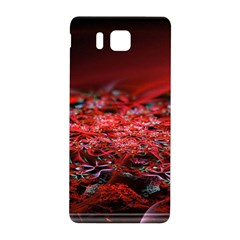 Red Fractal Valley In 3d Glass Frame Samsung Galaxy Alpha Hardshell Back Case by Nexatart