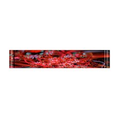 Red Fractal Valley In 3d Glass Frame Flano Scarf (mini)