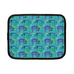 Elephants Animals Pattern Netbook Case (small)  by Nexatart