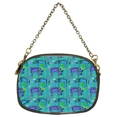 Elephants Animals Pattern Chain Purses (two Sides)  by Nexatart