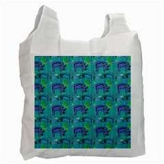 Elephants Animals Pattern Recycle Bag (two Side)  by Nexatart