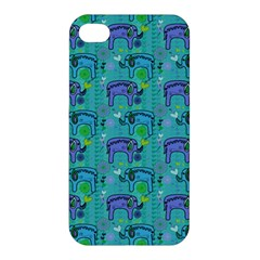 Elephants Animals Pattern Apple Iphone 4/4s Hardshell Case