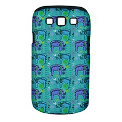 Elephants Animals Pattern Samsung Galaxy S Iii Classic Hardshell Case (pc+silicone) by Nexatart