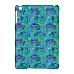 Elephants Animals Pattern Apple Ipad Mini Hardshell Case (compatible With Smart Cover)