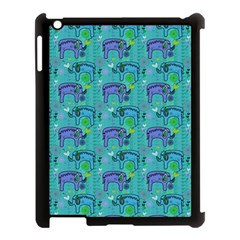Elephants Animals Pattern Apple Ipad 3/4 Case (black)