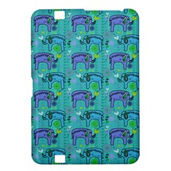 Elephants Animals Pattern Kindle Fire Hd 8 9  by Nexatart
