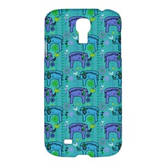Elephants Animals Pattern Samsung Galaxy S4 I9500/i9505 Hardshell Case by Nexatart