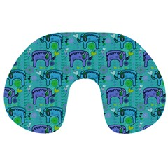 Elephants Animals Pattern Travel Neck Pillows