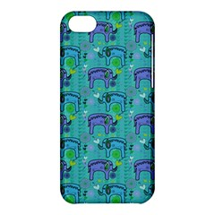 Elephants Animals Pattern Apple Iphone 5c Hardshell Case by Nexatart