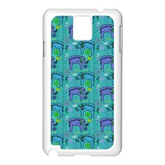 Elephants Animals Pattern Samsung Galaxy Note 3 N9005 Case (white)
