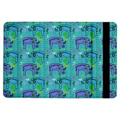 Elephants Animals Pattern iPad Air Flip by Nexatart