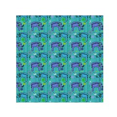 Elephants Animals Pattern Small Satin Scarf (square) by Nexatart