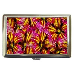 Floral Pattern Background Seamless Cigarette Money Cases by Nexatart