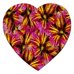 Floral Pattern Background Seamless Jigsaw Puzzle (heart)