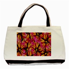 Floral Pattern Background Seamless Basic Tote Bag (two Sides) by Nexatart