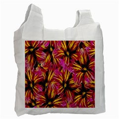 Floral Pattern Background Seamless Recycle Bag (two Side)  by Nexatart