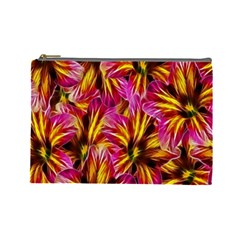 Floral Pattern Background Seamless Cosmetic Bag (large)