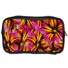 Floral Pattern Background Seamless Toiletries Bags 2 Side