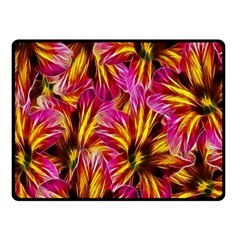 Floral Pattern Background Seamless Fleece Blanket (small) by Nexatart