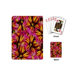 Floral Pattern Background Seamless Playing Cards (mini)