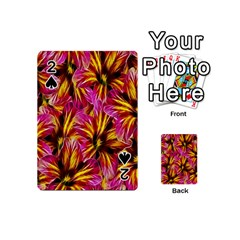 Floral Pattern Background Seamless Playing Cards 54 (mini)