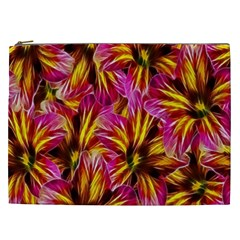 Floral Pattern Background Seamless Cosmetic Bag (xxl)  by Nexatart