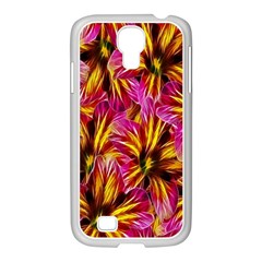 Floral Pattern Background Seamless Samsung Galaxy S4 I9500/ I9505 Case (white)