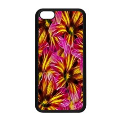 Floral Pattern Background Seamless Apple Iphone 5c Seamless Case (black) by Nexatart