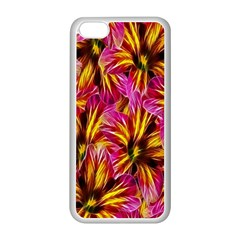 Floral Pattern Background Seamless Apple Iphone 5c Seamless Case (white) by Nexatart