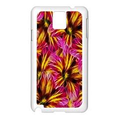 Floral Pattern Background Seamless Samsung Galaxy Note 3 N9005 Case (white) by Nexatart