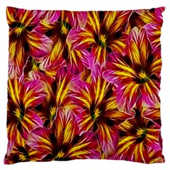 Floral Pattern Background Seamless Large Flano Cushion Case (two Sides)