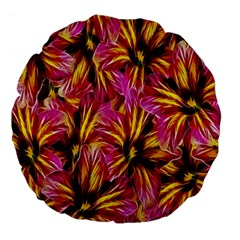 Floral Pattern Background Seamless Large 18  Premium Flano Round Cushions